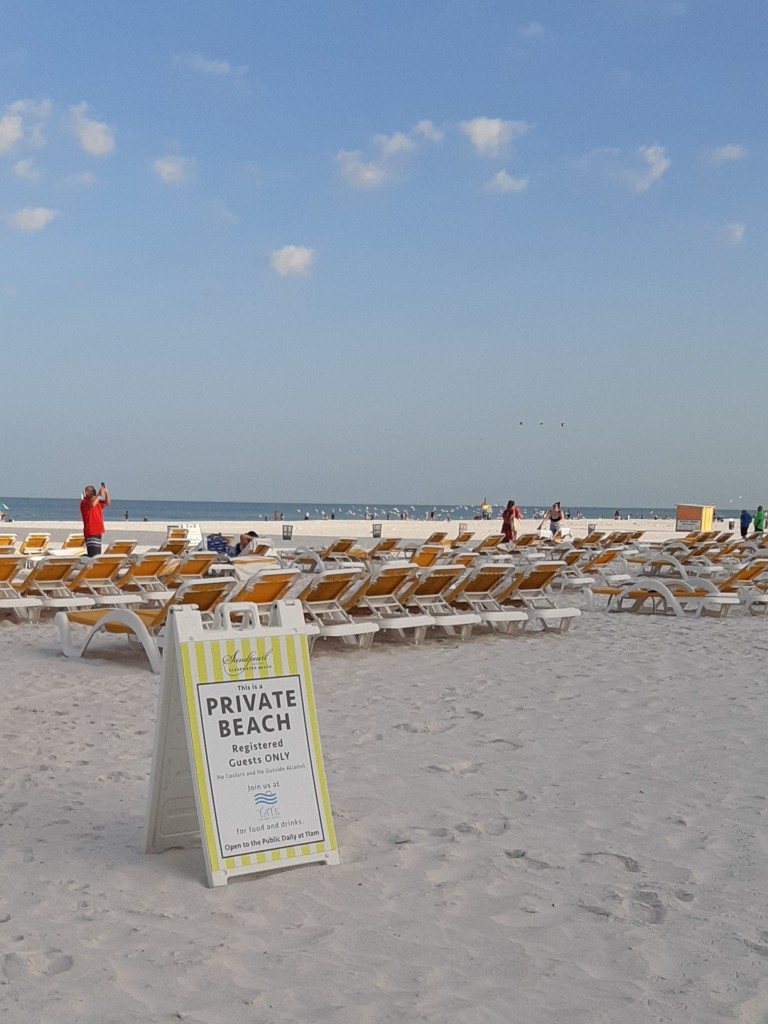 SP private beach sign